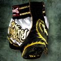 Twins White/Black Dragon Muay Thai Shorts